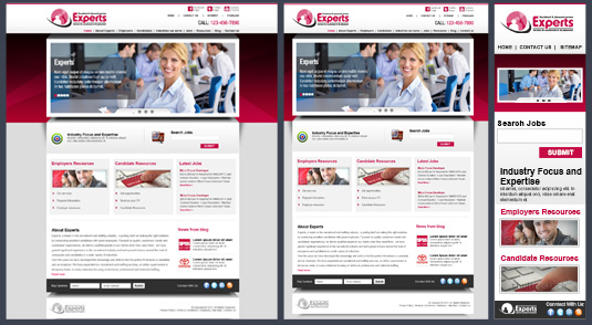 Human Resource Responsive Website Design