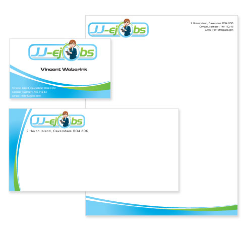 Online Job Portal Stationery Design