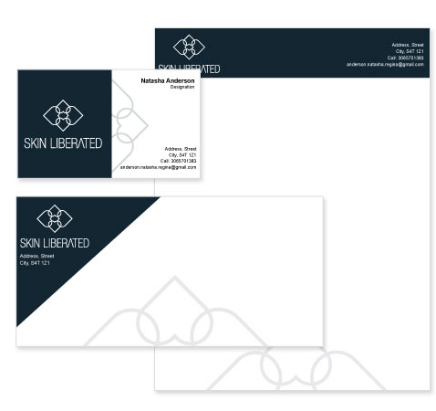 Skin Center Stationery Design