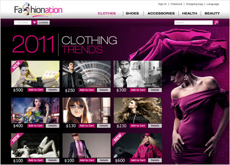 Fashion Website Development
