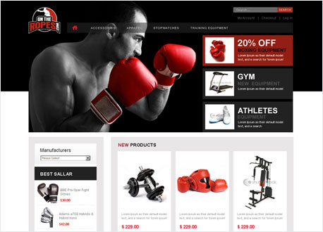 Sports Equipment Ecommerce Store