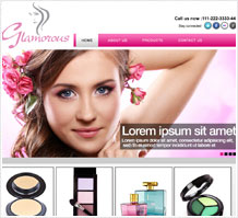 Glamorous Cosmetics Website Design
