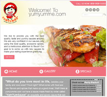 Yumyumne Food Website Design