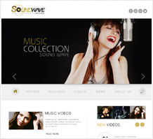 SoundWave Music Web Design
