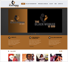 Black Woman of God Charity Web Design