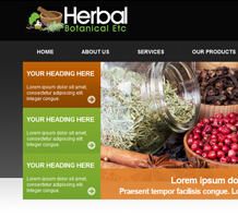 Herbal Botanical Web Design