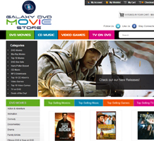 Galaxy DVD Entertainment Web Design